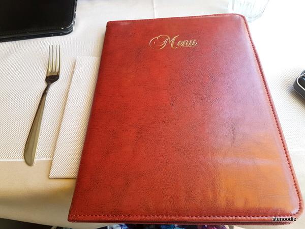 Naumachia Ristorante menu cover