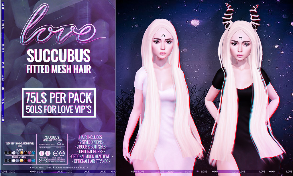 Love [Succubus] Hair - The Saturday Sale! - TeleportHub.com Live!
