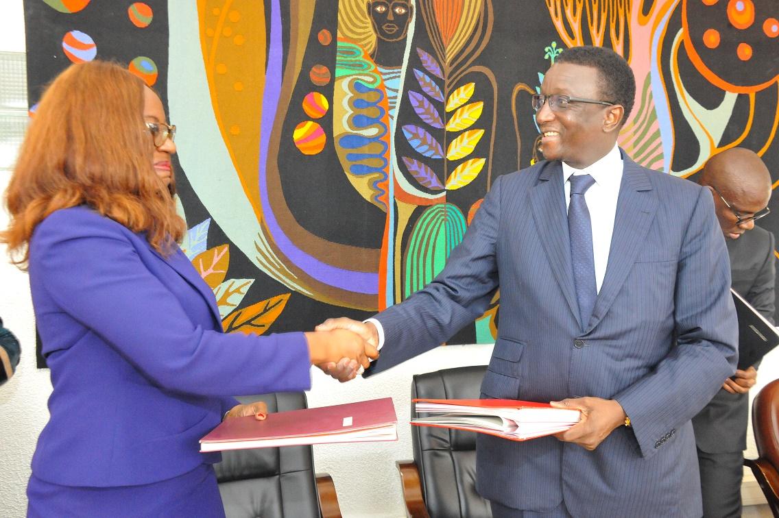 Amadou Ba lors de la Signature des Accords de prêt portant sur le financement des projets du PSE avec la BAD (6)