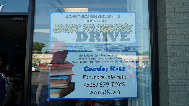 John Theissen Children's Foundation Back to School Drive 2018