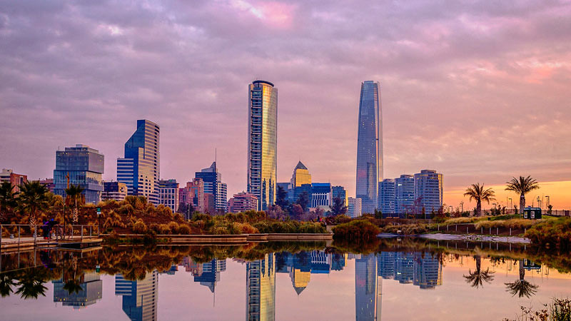 Santiago, ibu kota Chili.
