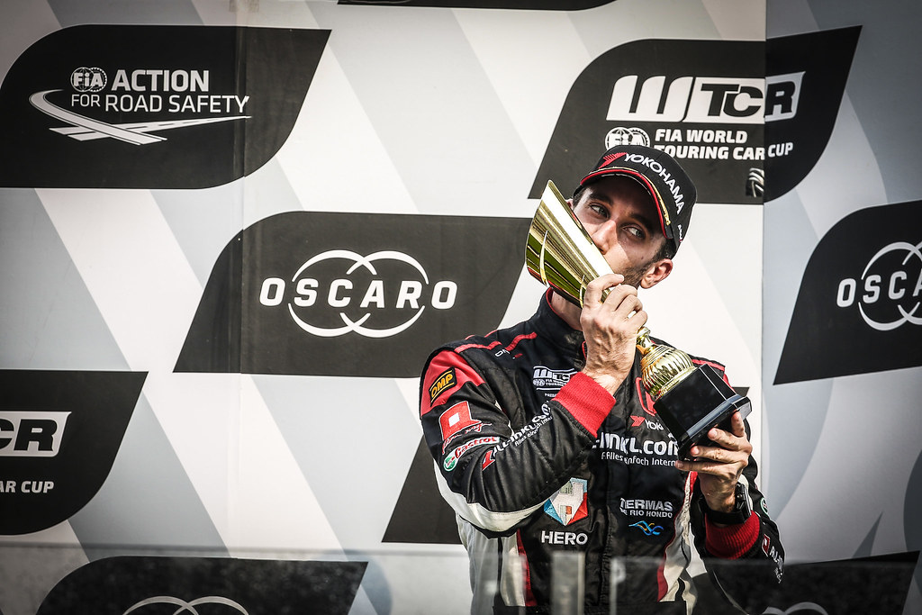 GUERRIERI Esteban, (arg), Honda Civic TCR team ALL-INKL.COM Munnich Motorsport, portrait podium race 2 during the 2018 FIA WTCR World Touring Car cup of China, at Ningbo  from September 28 to 30 - Photo Jean Michel Le Meur / DPPI