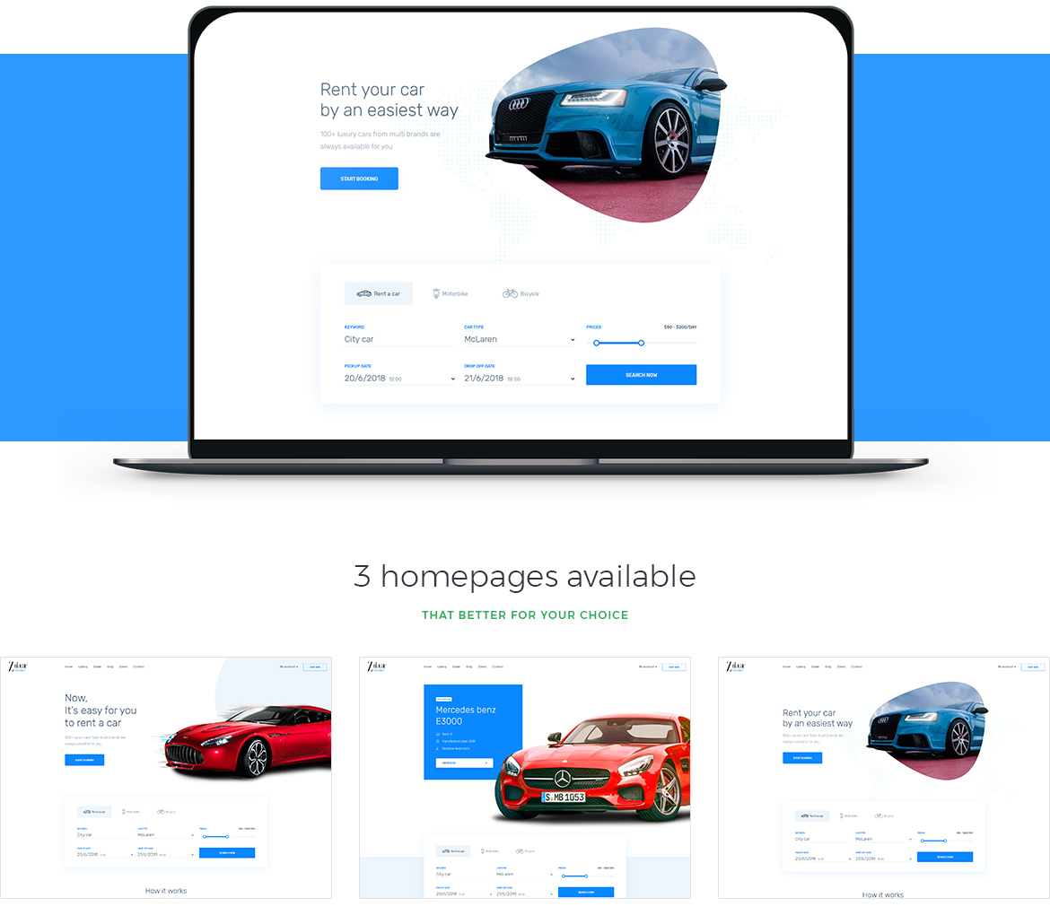 Leo Rent Car Prestashop 1.7 theme