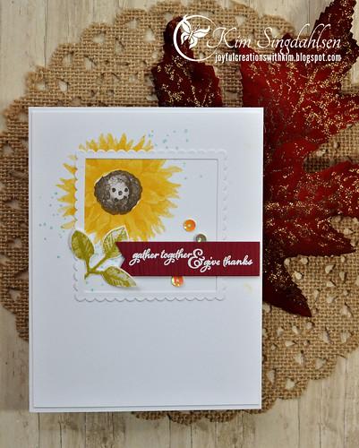 Card Concept Sunflower