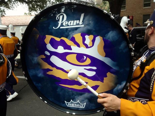 Tiger eye drum