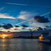 Sunset with wild sky