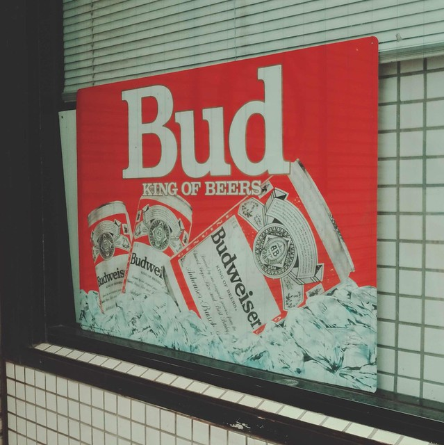 Budweiser beer sign