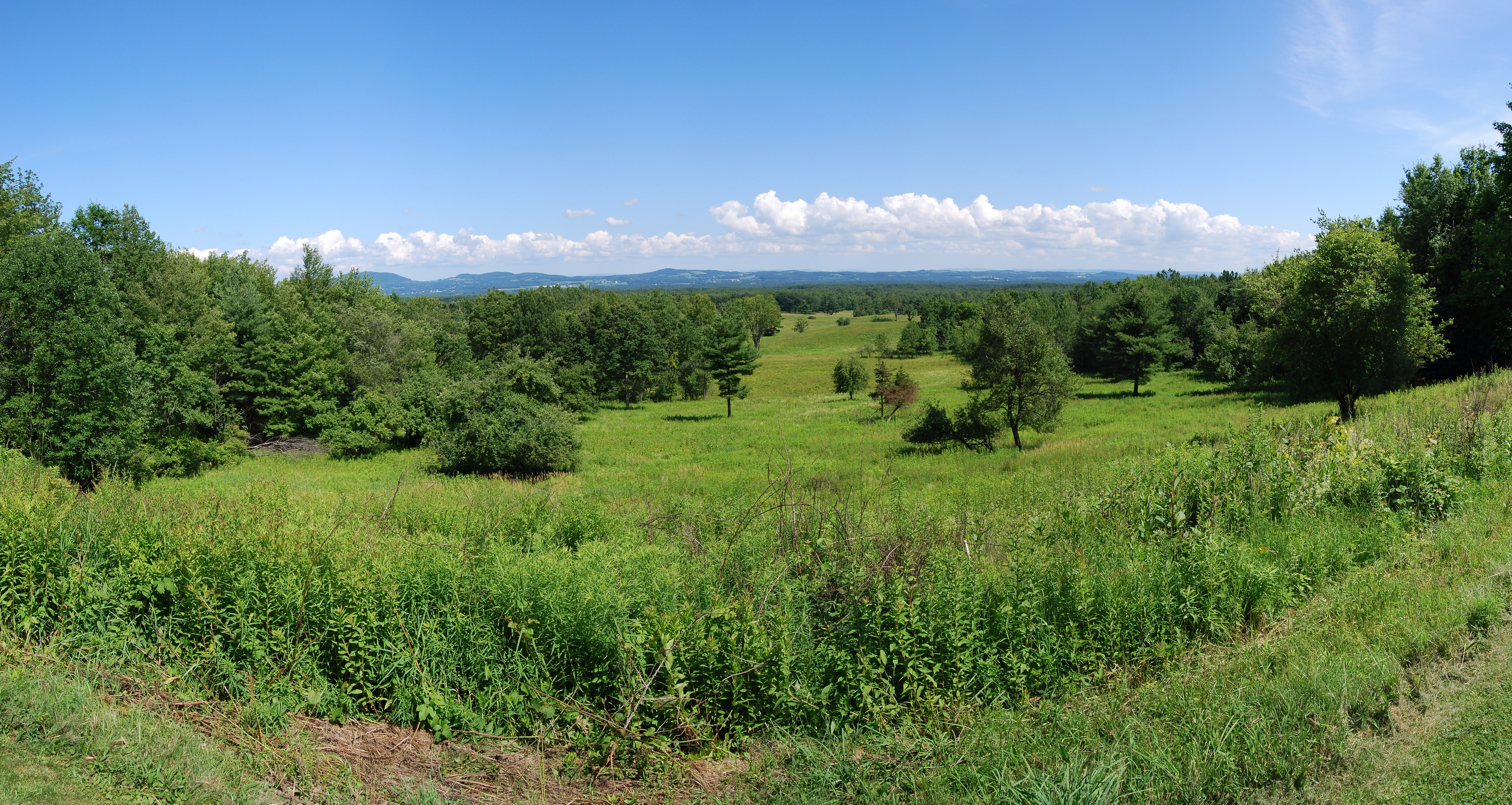 Battlefield of the Battle of Saratoga,, as viewed from the visitor center of Saratoga National Historic Park, in Stillwater, New York, United States, Photo taken on July 10, 2009.