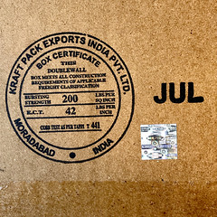 Kraft Pack Exports India Box Certificate