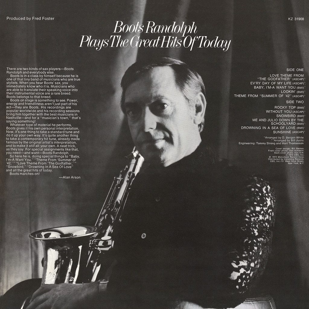 Boots Randolph - Plays the Hits of Today