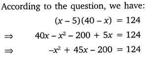 NCERT Solutions for Class 10 Maths Chapter 4 Quadratic Equations 5