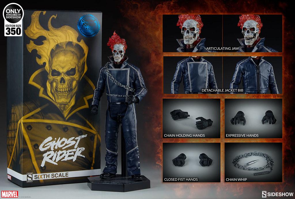 熊熊燃燒的惡靈之火再度歸來! Sideshow Collectibles Marvel Comics【惡靈戰警 (Ghost Rider) – Classic Variant】1/6 比例人偶作品