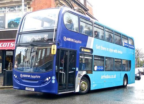 CX15 BXY 'ARRIVA Cymru' No. 4645, 'Sapphire'. 'ADL' E40D / 'ADL' Enviro 400 on 'Dennis Basford's railsroadsrunways.blogspot.co.uk'
