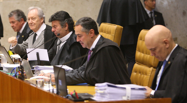 Ministros durante sessão plenária do Supremo Tribunal Federal - Créditos: Foto: Nelson Jr./SCO/STF