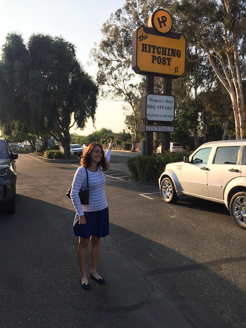 Maria arrives at the Hitching Post 2, Buellton, CA
