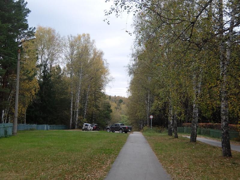 Новосибирский академгородок - Дорога в Ботанический сад