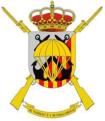 """Escudo del Regimiento de #Infantería """"Nápoles"""" Nº 4 #Paracaidistas"""