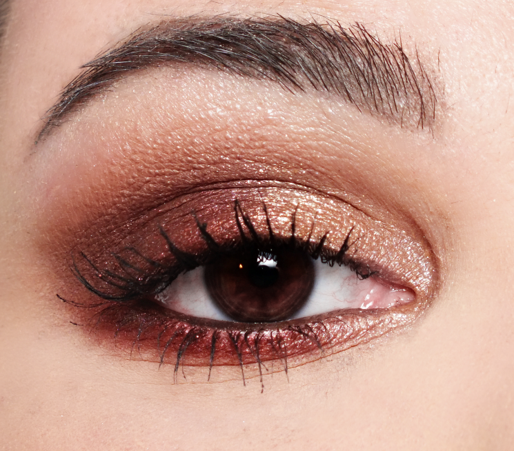 burgundy bar eye look