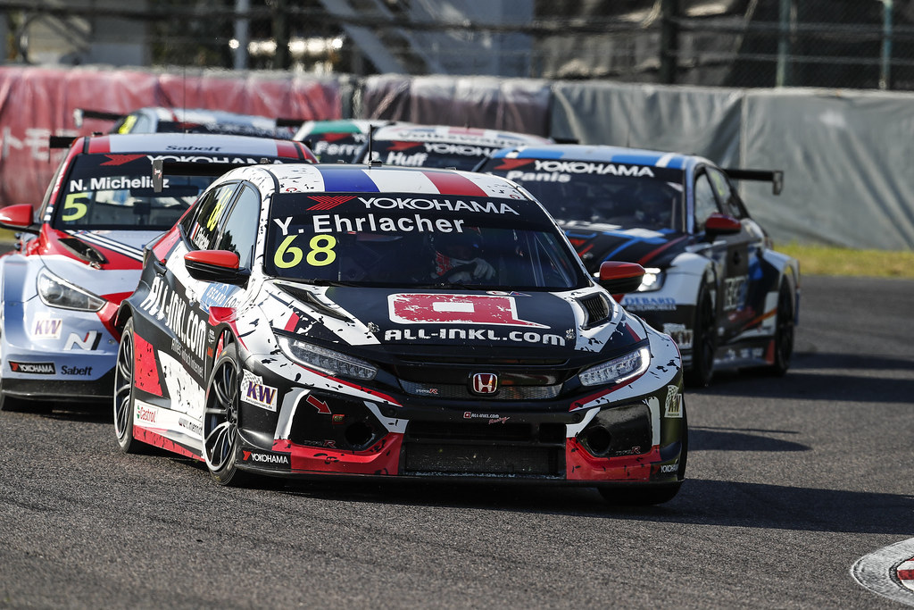 68 EHRLACHER Yann, (fra), Honda Civic TCR team ALL-INKL.COM Munnich Motorsport, action during the 2018 FIA WTCR World Touring Car cup of Japan, at Suzuka from october 26 to 28 - Photo Clement Marin / DPPI