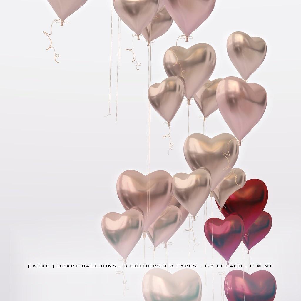 [ keke ] heart balloons - TeleportHub.com Live!