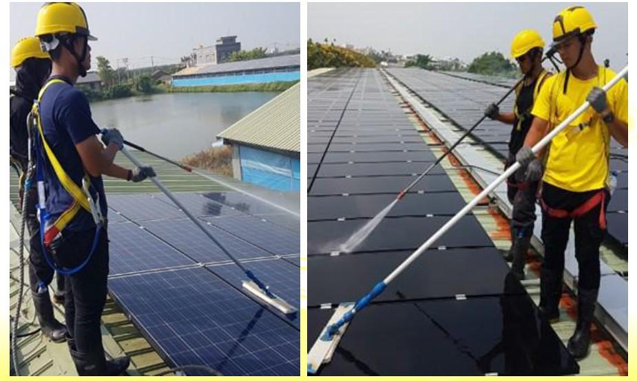 太陽光電產業協會指出,太陽能都是用清水清洗,不會用化學藥劑。圖片來源:太陽光電產業協會