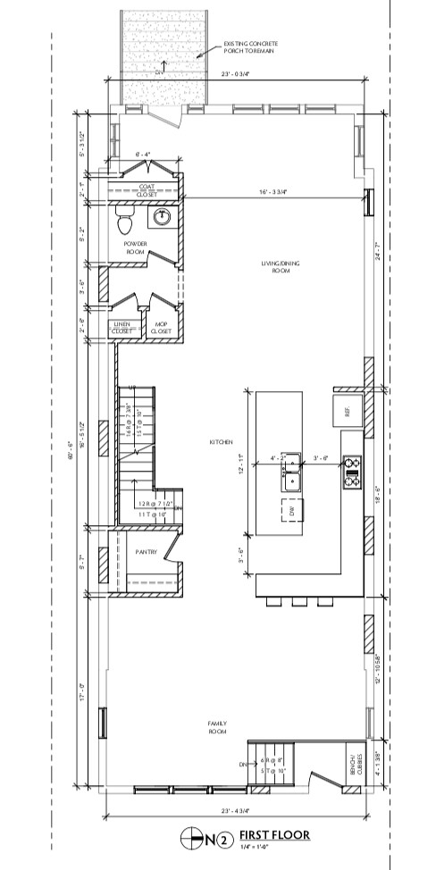 1050 N Taylor Ave Arch Drawings - First Floor