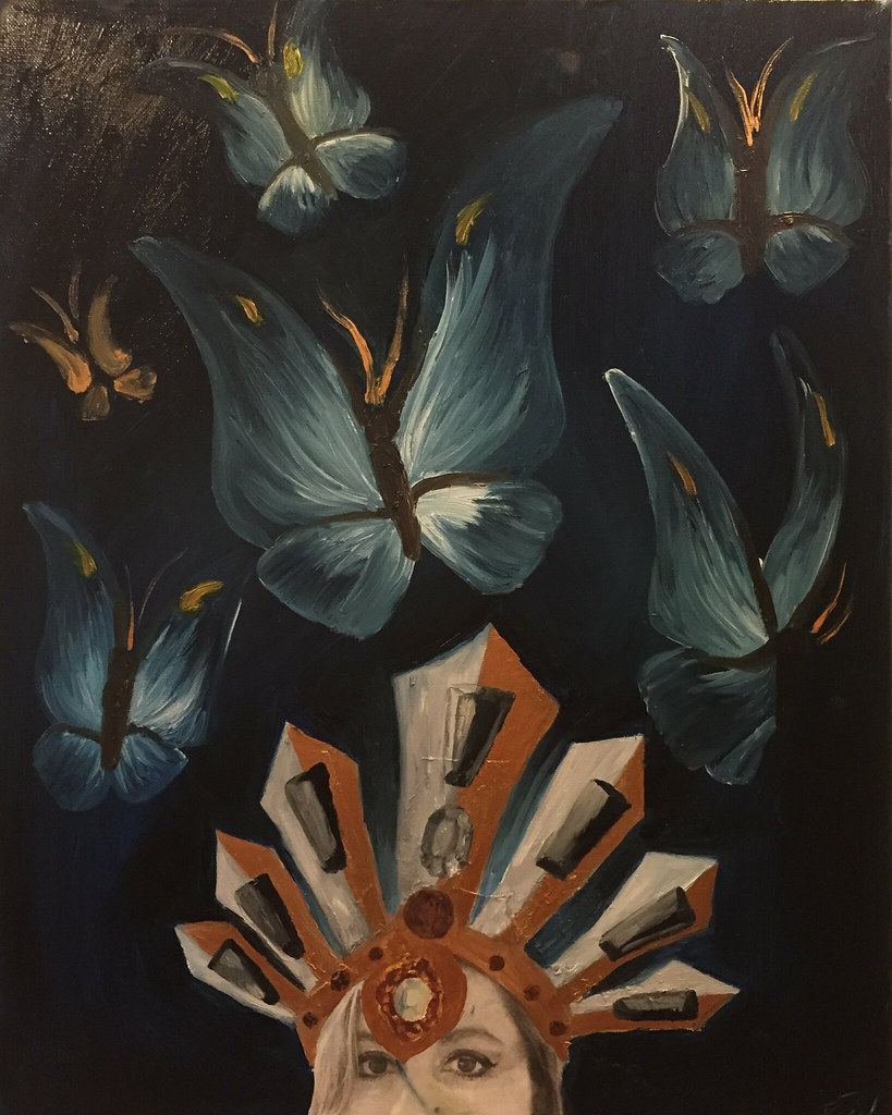Rebecca Pons, BECCA PONS STUDIO, BECCA PONS, Oil Painting, fine art, AS ABOVE, SO BELOW, Wings and Aura Collection