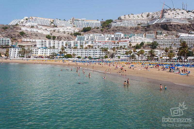 Playa de Puerto Rico en Gran Canaria