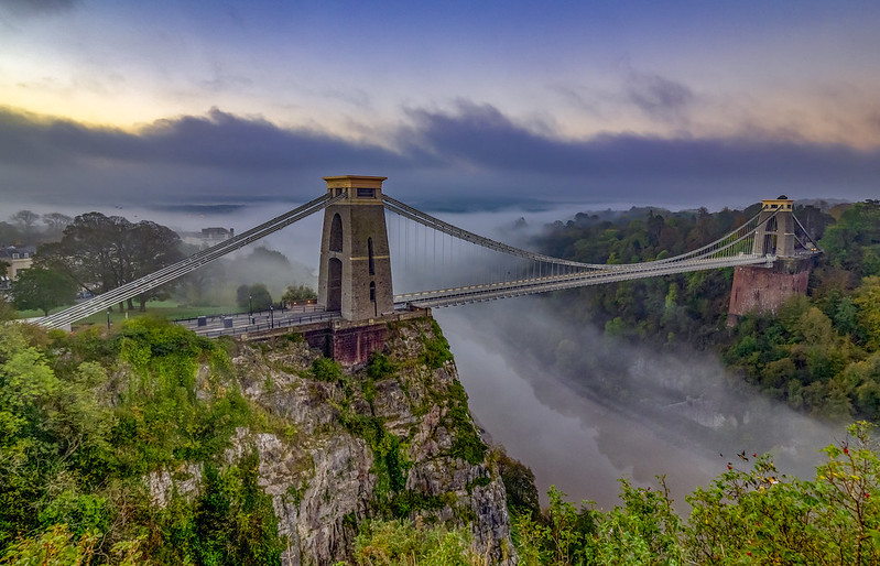 Clifton Suspension Bridge On A Misty Morning