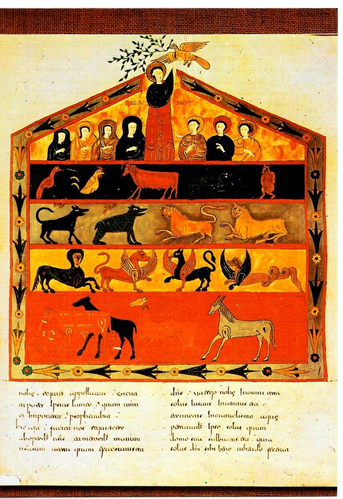 El Arca de Noé. Gen. VI, 14ss Santo Toribio de Liébana (Cantabria), San Beato de Liébana (siglo VIII),