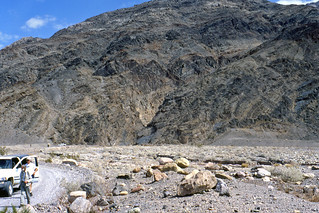 Titus Canyon & Grapevine Mountains & alluvial fan (Death Valley National Park, California)