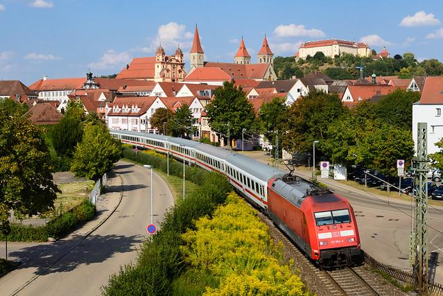 101 064, IC Nürnberg Hbf - Karlsruhe Hbf, Ellwangen