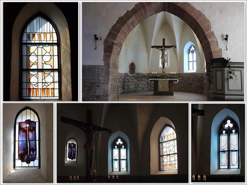 Moderne Glasmalerei in historischen Kirchen