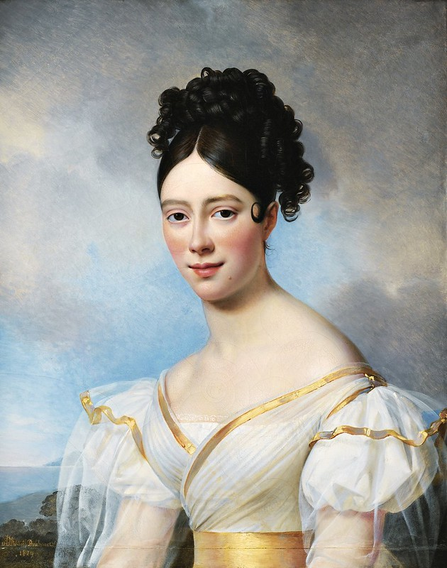 Alexandre Jean Dubois-Drahonet (1791-1834) - Presumed portrait of Maria Malibran (1829)