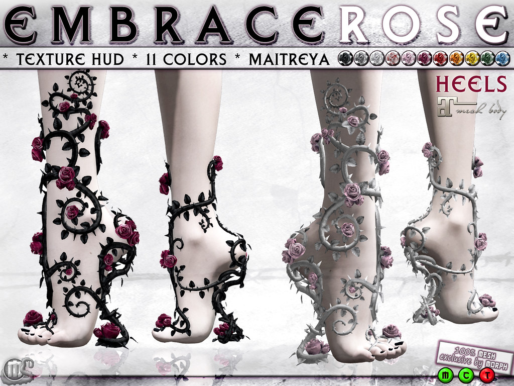 0o Morph embraced ROSE Heels for Maitreya