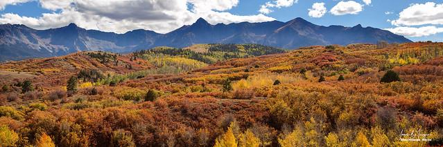 Colorado Autumn Panorama Colorful Bliss