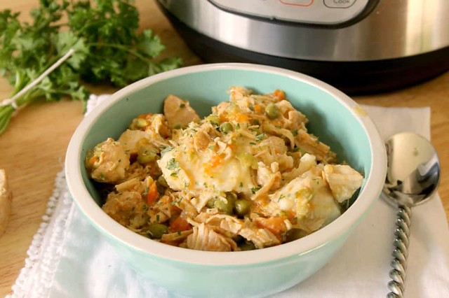 instant pot chicken and dumplings