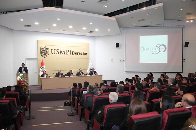 """Facultad de Derecho de la USMP Inauguró la """"Semana de Derecho 2018"""""""