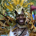 No one at Carnival wears a wider smile than this woman