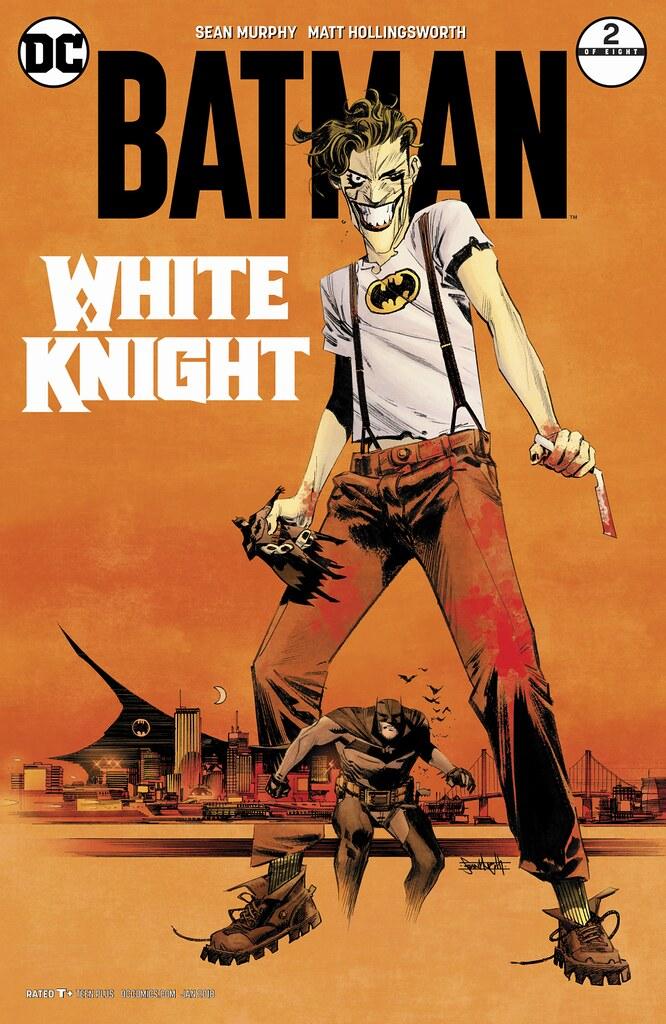 手裡的老爺娃娃好可愛喔XD~ DC Collectibles 蝙蝠俠黑白雕像系列《蝙蝠俠:白色騎士》小丑 Joker by Sean Murphy 全身雕像作品