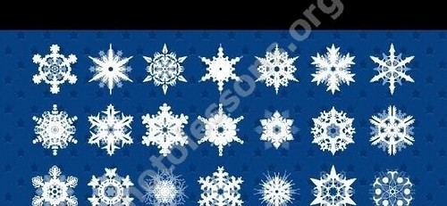 Snowflakes for Photoshop – download PSD source file for free