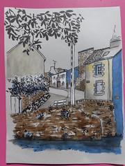 Rue Leuriou à Quimperlé le 8 octobre 2018