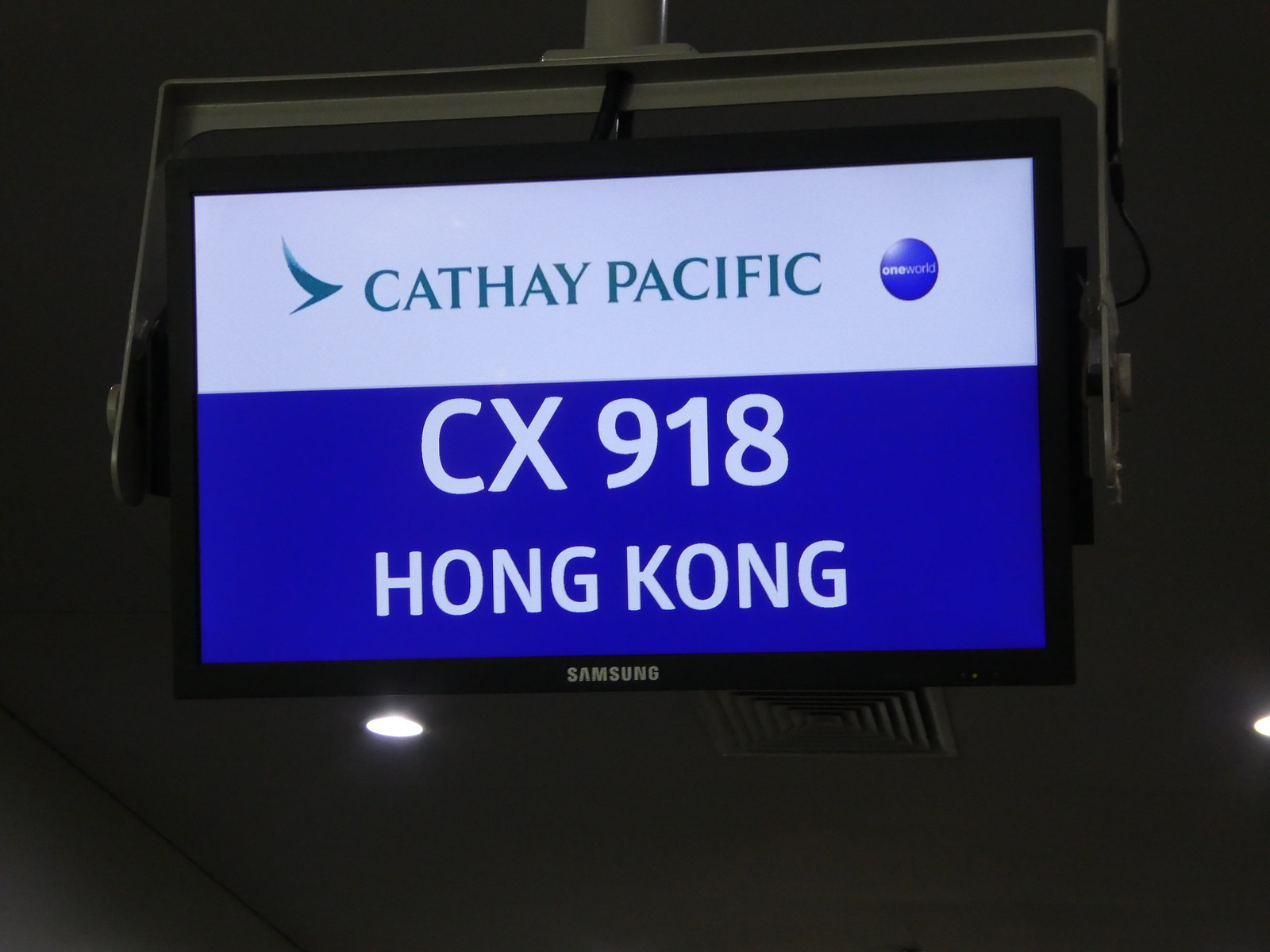 Cathay Pacific Gate at Manila airport