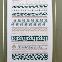 Irish Blessings Sampler, detail