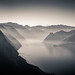 Traunsee BW by Wolfgang Hackl