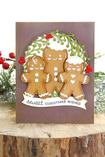 gingerbread men + caroling penguins (Lawn Fawn inspiration week)
