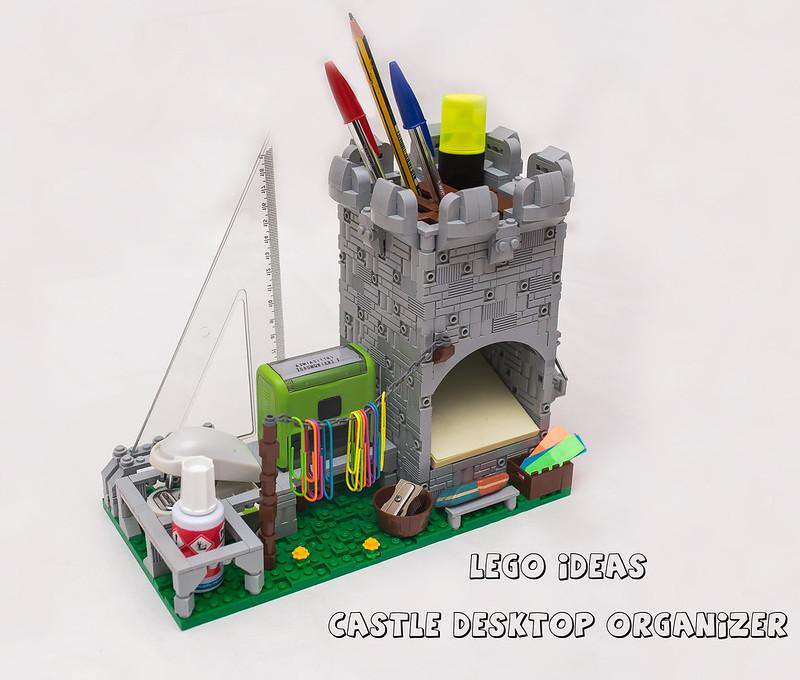 [LEGO Ideas]: Castle Desktop Organizer 45412653961_b813deeb6f_c