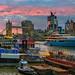 Sunset River - London, UK by davidgutierrez.co.uk