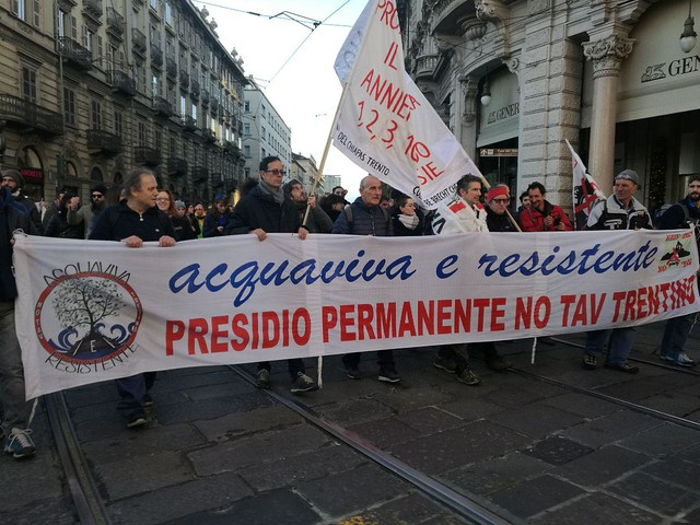 Manifestazione No Tav, Torino 8/12/2018