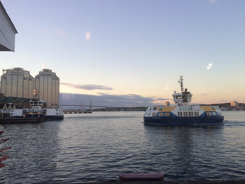 View of Ferry from Murphy's Restaurant, Halifax waterfront